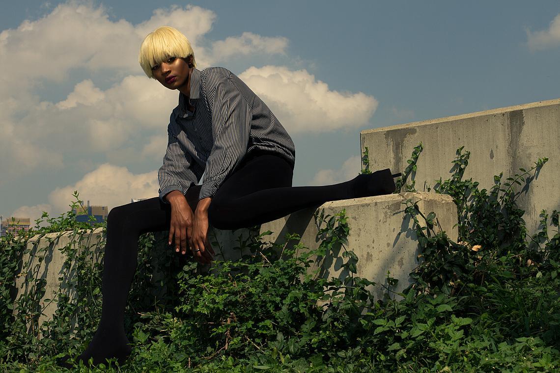 Блуза - Kartel NYC / Панталон - Stylists' own / Обувки - Prada Black Suede Platform Pumps