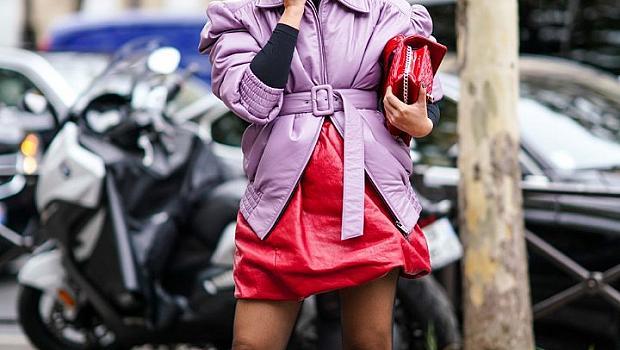 Как да носим лилаво с червено като истинска модна икона