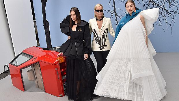 Майката на Джиджи и Бела Хадид на модния подиум на Off-White