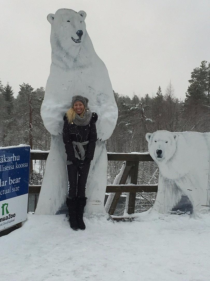 Елена Ангелова в Лапландия