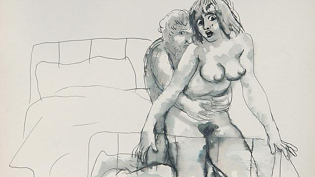 Струва си да се видят: непоказвани еротични акварели от тайните папки Стоян Венев