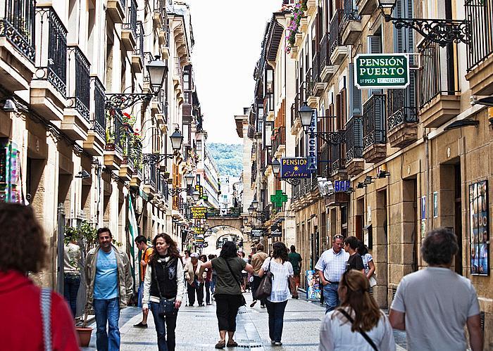 Още една уличка в старата част на Сан Себастиан