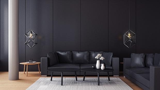 Теория на цветовете в интериора: черно