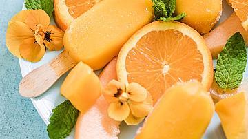 Плодов сладолед с теменужки