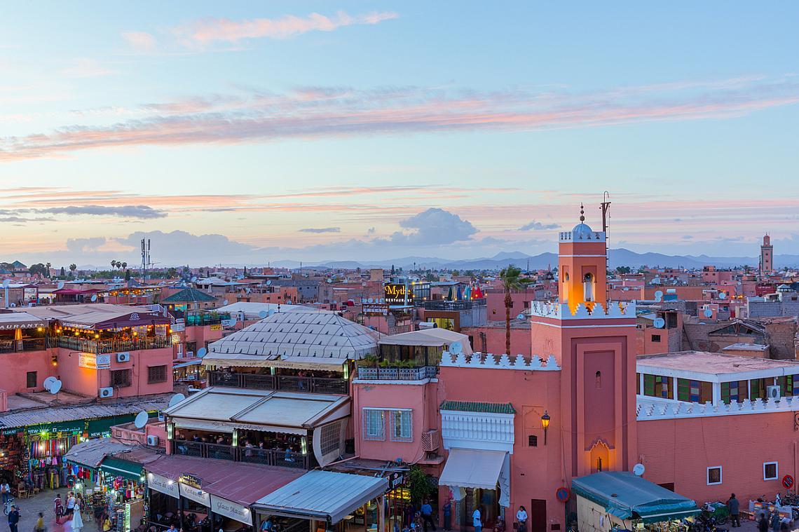 Неслучайно Маракеш е наричан Розовия град.