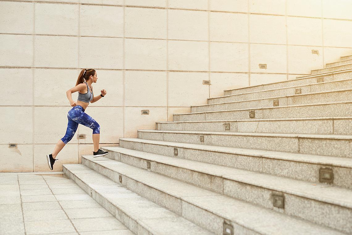 <p>Тичане по стълби</p>