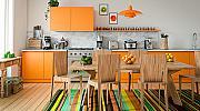 Теория на цветовете в интериора: оранжево