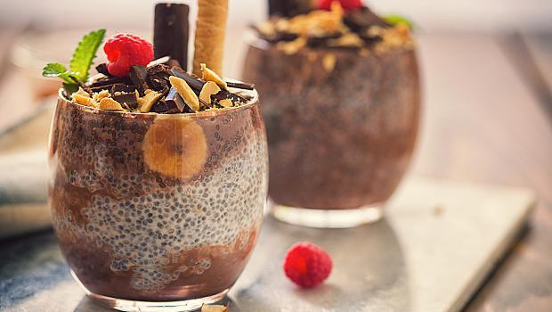 Шоколадов чия пудинг