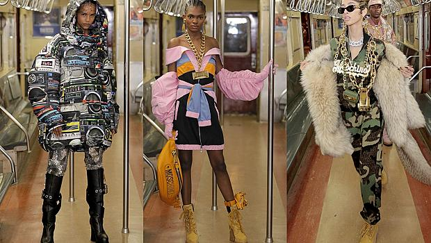 Moschino направи метрото в Ню Йорк шикозно