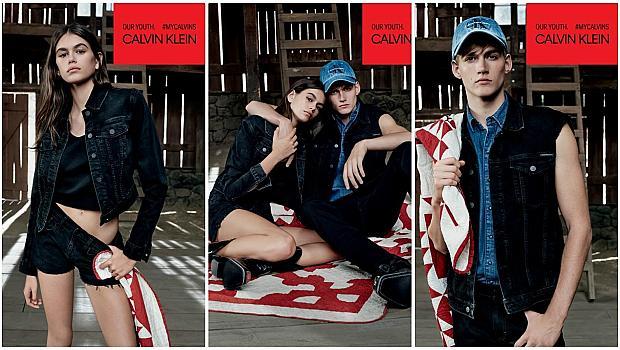 Кая и Пресли Гербер са новите лица на Calvin Klein Jeans
