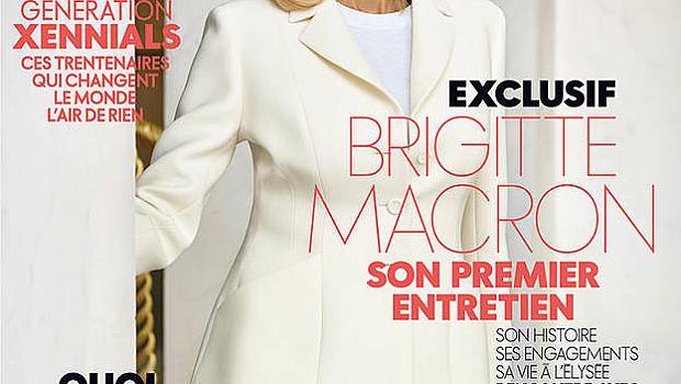 Бриджит Макрон е на корицата на френския ELLE