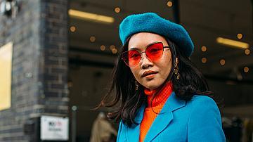 Код синьо: 30 street style визии от модните столици
