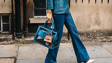 Street Style: Широките цветни панталони, които ни накараха да се усмихнем