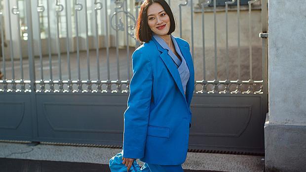 45 вдъхновяващи визии в синьо, взети от любимите ни модни столици