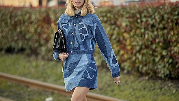 Street style с деним: 40 вдъхновяващи стайлинг идеи от модните столици