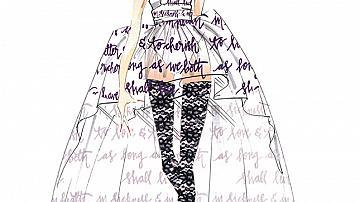 Скиците за сватбената рокля на Лейди Гага