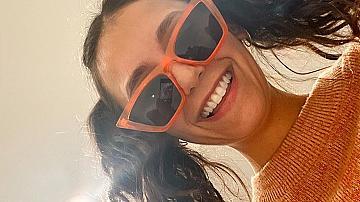 Оранжево за есента: Нина Добрев посреща сезона с усмивка и цвят