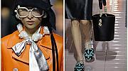 Плетени шапки, лъскави рапани и много кожа: Prada пролет-лято 2020