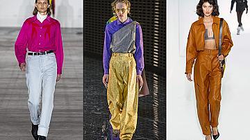 30 панталона от модния подиум с висока талия