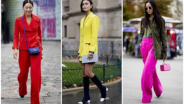 Street Style от Париж: улици, обагрени в ярки цветове
