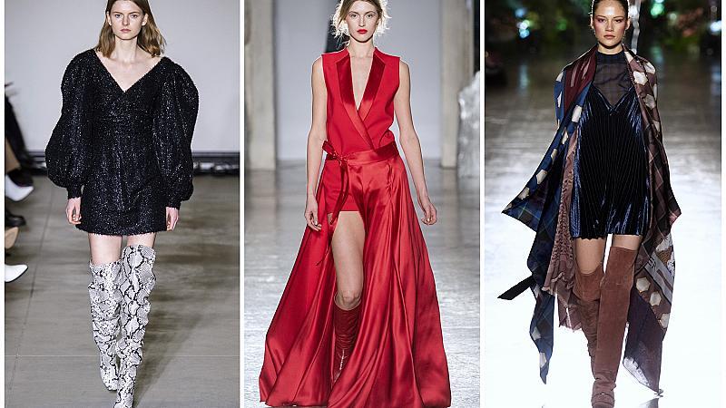 Комбинирайте любимата си рокля с ботуши на висок ток