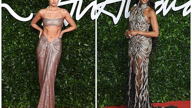 Блясък и прозрачни материи: Най-красивите рокли от British Fashion Awards