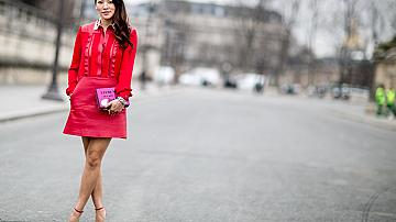 Street style визии с червени обувки