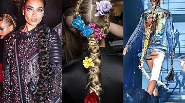 Най-екстравагантните прически от модния подиум в Ню Йорк, Лондон, Милано и Париж