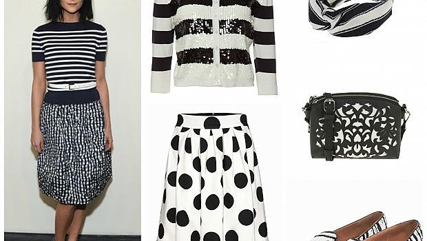 Комбинацията черно и бяло ви връща в модната игра