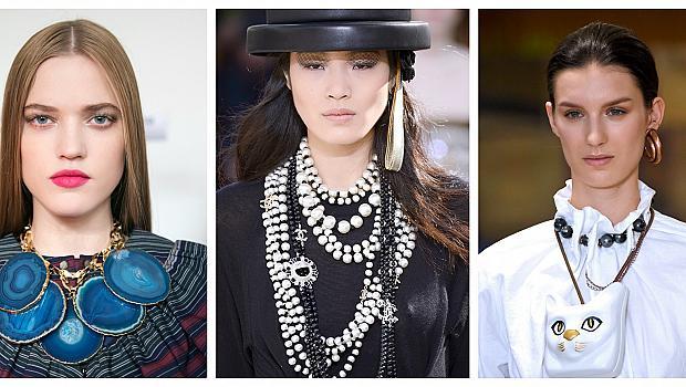 Обемни бижута от модния подиум