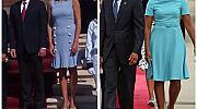 Синята рокля на нашата първа дама е Dolce&Gabbana