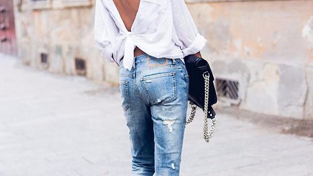 Street style примери: закопчейте ризата на гърба