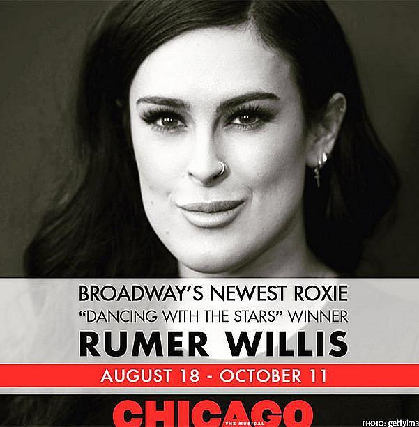 Румър Уилис с дебют на Бродуей.