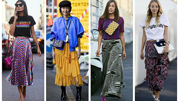 40 street style предложения как да носите дълга пола през пролетта на 2018