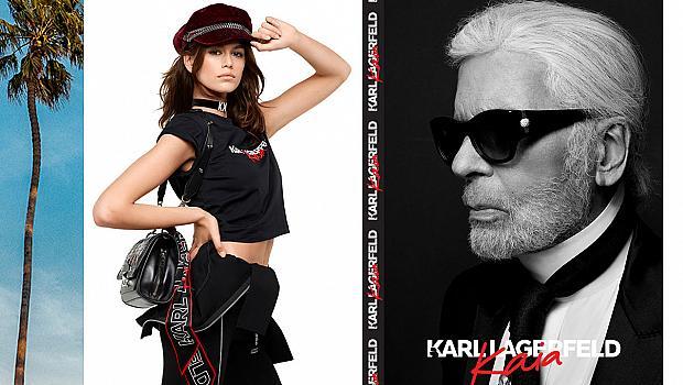 Карл Лагерфелд и Кая Гербер пуснаха в продажба общата си колекция