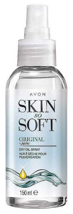 Хидратиращо спрей-олио с масло от жожоба от линията Skin So Soft на AVON