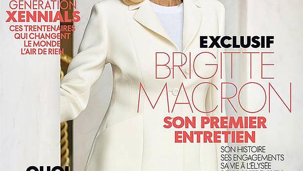 Бриджит Макрон е най-продаваната корица на френското издание на списание ELLE